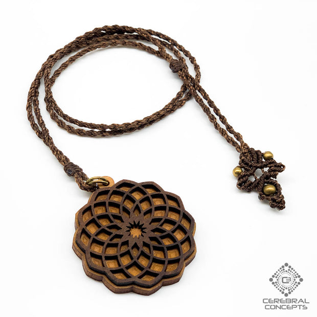 Soul Flower - Necklace W/ Macramé - By Root Of Creations & Cerebral Concepts