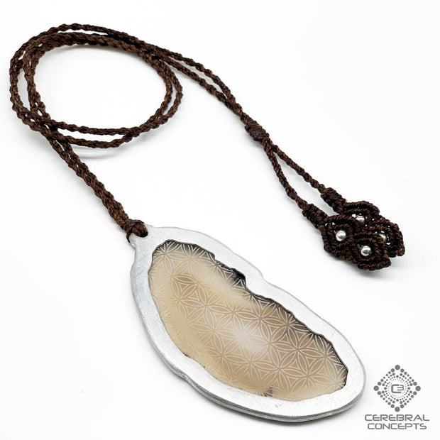 Flower Of Life - Agate Necklace - By Root Of Creations & Cerebral Concepts