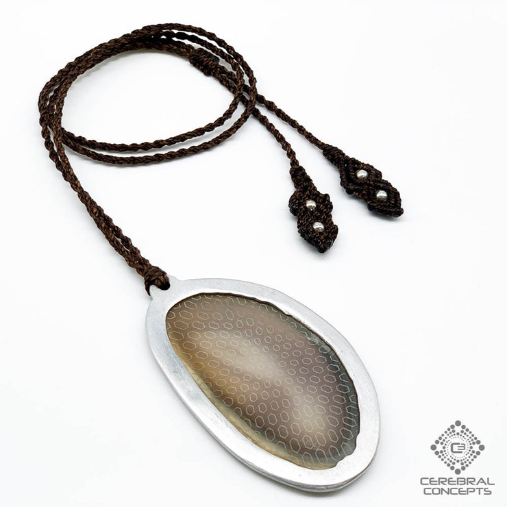 Honeycomb Implosion - Agate Necklace - By Root Of Creations & Cerebral Concepts