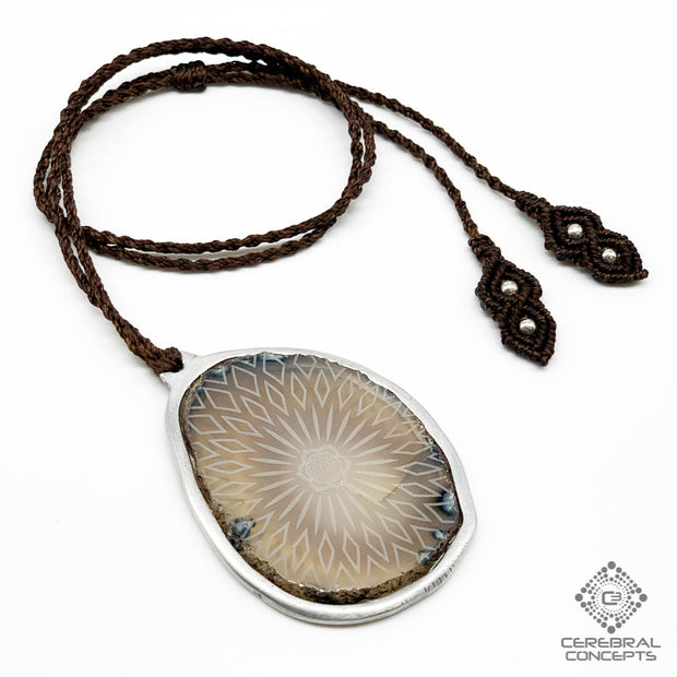 Flower in Bloom - Agate Necklace - By Root Of Creations & Cerebral Concepts