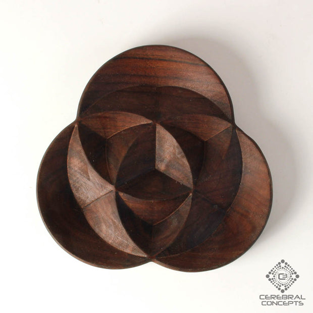 Trinity - Carved Wood Tray - By Cerebral Concepts