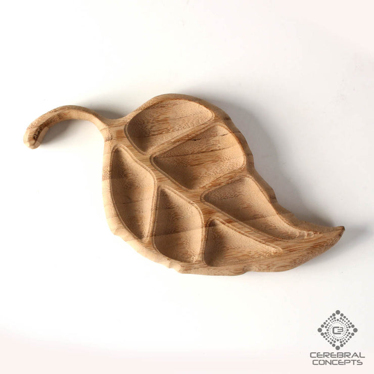 Luscious Leaf - Carved Wood Tray - By Cerebral Concepts