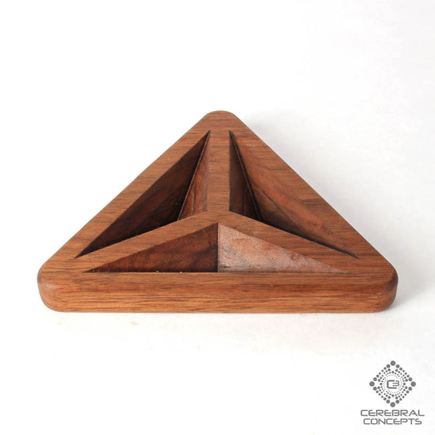 Tetrahedron - Carved Wood Tray - By Cerebral Concepts