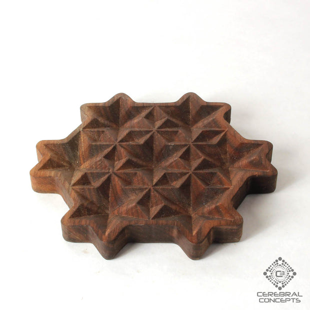 Starry Stellation - Carved Wood Tray - By Cerebral Concepts