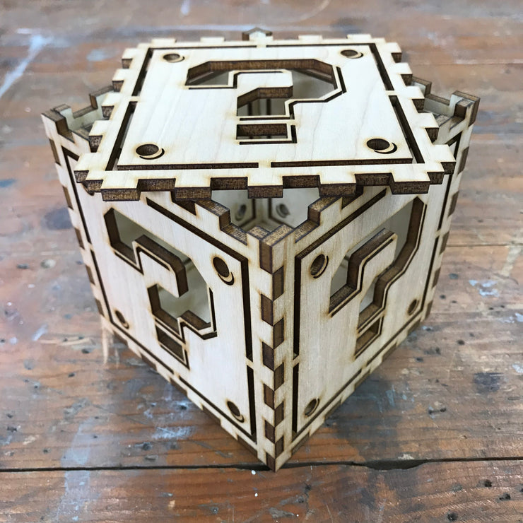 ???? Cube - Limited Edition - Laser Cut Wood Box with Removable Lid