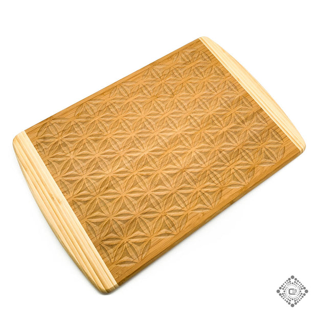 Flower of Life - Bamboo Cutting Board - By Cerebral Concepts