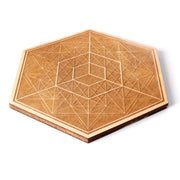 Cubic Consciousness - Wooden Crystal Grid - By Decah