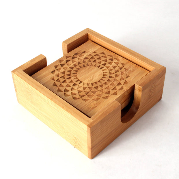 Variety - Square Bamboo Coaster Set