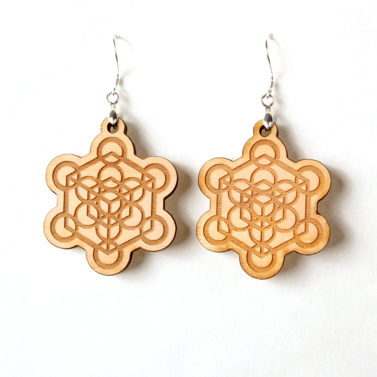 Metatron's Cube - Earrings