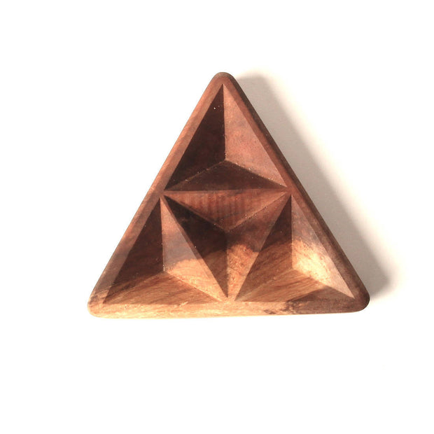 Triforce Tetrad - Carved Wood Tray - By Cerebral Concepts