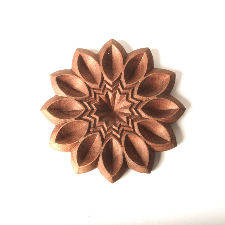 Petal Power - Carved Wood Tray - By Cerebral Concepts