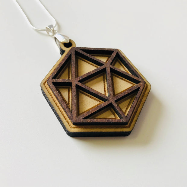 Icosahedron Prism - Necklace