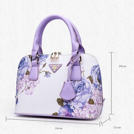Blue Rose Shoulder Bag
