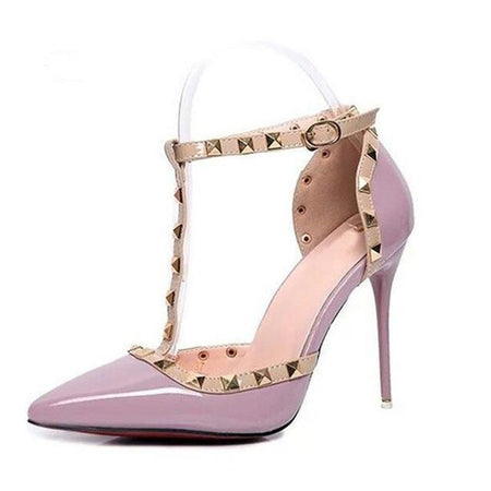 Rivet Studded Decoration Heels
