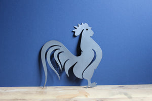 metal plasma cut rooster sign