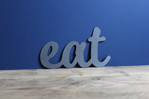 plasma cut eat metal word sign