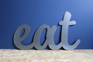 Eat Metal Sign home decor