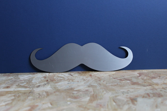 metal moustache sign