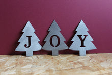 Load image into Gallery viewer, Christmas tree letter metal ornaments
