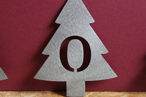 Christmas tree letter metal ornaments