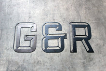 Load image into Gallery viewer, industrial 3D style metal letter