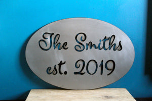 custom name plasma cut metal sign