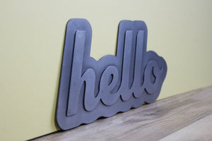 Custom Metal Name/ Word Sign with Backing Plate