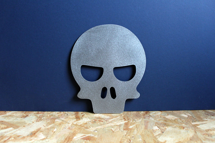 skull metal plasma cut sign