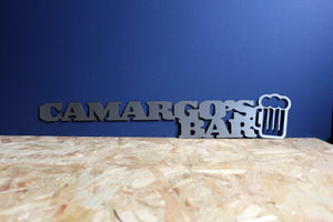 custom metal bar sign