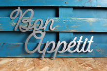 Load image into Gallery viewer, bon appetit metal CNC cut word sign