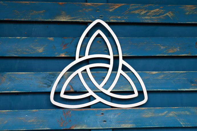 celtic knot metal sign