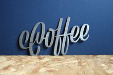 Load image into Gallery viewer, coffee metal plasma cut word sign