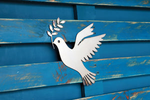 Dove with Olive Branch Sign