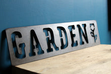 Load image into Gallery viewer, garden metal sign