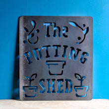 Load image into Gallery viewer, the potting shed metal sign