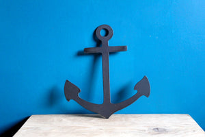 anchor plasma cut metal sign
