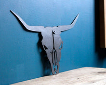 Load image into Gallery viewer, bull head plasma cut metal sign