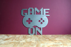 Game On Remote Metal Gamer Sign