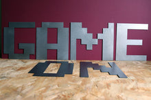 Load image into Gallery viewer, Large Metal Letter 8-Bit Gamer Font