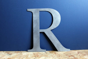 Large Metal Letter R Shop Sign Home Decor