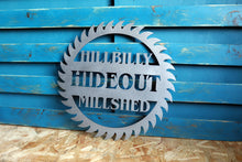 Load image into Gallery viewer, Personalised Custom Metal Saw Blade Sign