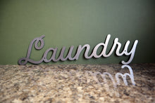 Load image into Gallery viewer, plasma cut metal laundry sign