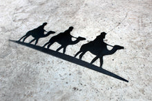 Load image into Gallery viewer, three wise men metal ornament sign