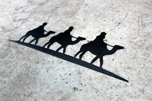 three wise men metal ornament sign