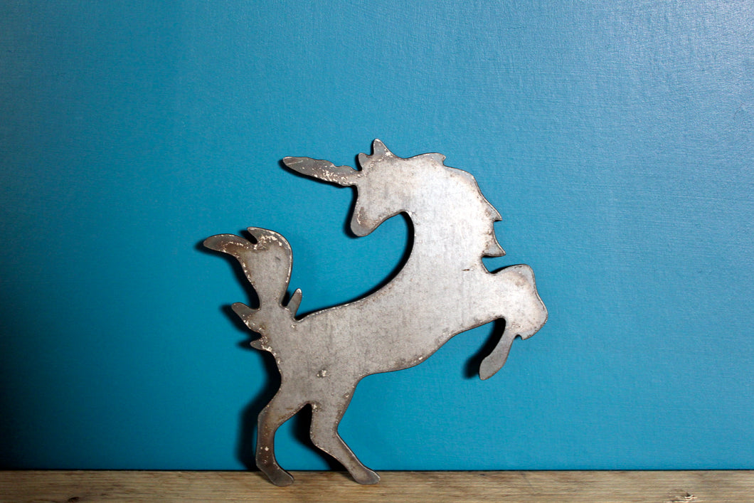 unicorn metal plasma cut sign