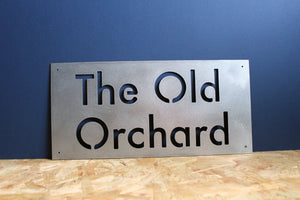 Custom plasma cut house sign