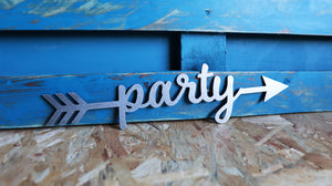 party metal arrow sign