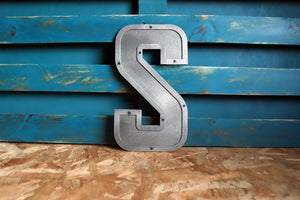 Large Metal Letter, Retro Pressed Style