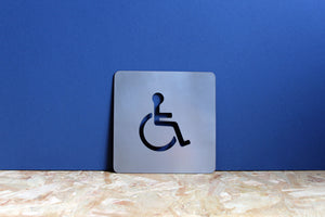 wheelchair access metal sign