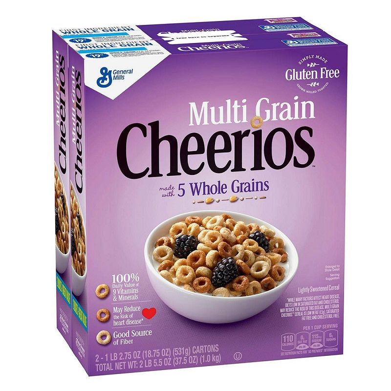 General Mills Multi Grain Cheerios, 2x 18.75 oz